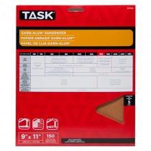 "9"" x 11"" 150 Grit Very Fine Garn-Alum Sandpaper - 5/pack"