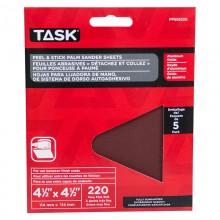 "4-1/2"" x 4-1/2"" Palm Sander 220 Grit Peel & Stick Sanding Discs - 5/pack"
