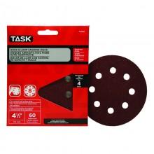 """4-1/2"""" 8 Hole 60 Grit Hook & Loop Sanding Discs - 4/pack"""