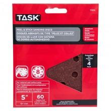 "5"" 8 Hole 60 Grit Peel & Stick Sanding Discs - 4/pack"