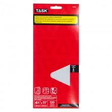 "4-1/4"" x 11"" 120 grit Fine Drywall Sandpaper - 5/pack"