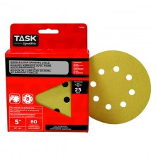 "5"" 8 Hole 80 Grit Hook & Loop Sanding Discs - 25/pack"