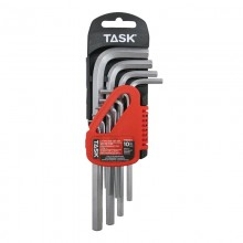 10pc Metric Long L-Type Hex Key Set - 1/pack