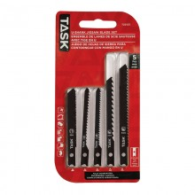 5pc U-Shank Jigsaw Blade Set - Sandwich Blister