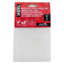 "4"" x 6"" Super Fine White Synthetic Steel Wool Pad - 2/pack"