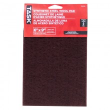 "6"" x 9"" Medium Maroon Synthetic Steel Wool Pad - 2/pack"