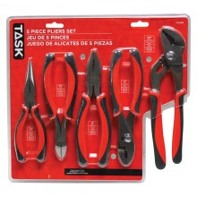 5pc Pliers Set with Soft Touch Rubber Grip - Clamshell