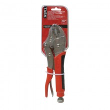 "10"" Curved Jaw Locking Pliers with Soft Touch Rubber Grip"