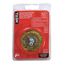"1-1/2"" Fine Brass Coated Steel Crimp Wire Wheel - 1/pack"