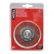 """3"""" Coarse Nylon Wheel Brush - 1/pack"""