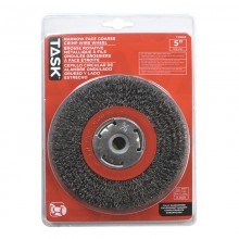 "5"" Coarse Steel Industrial Crimp Wheel for Bench Grinders - 1/pack"