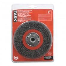 "5"" Coarse Steel Industrial Crimp Wheel for Bench Grinders - 1/pack"