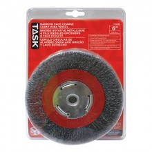 "6"" Coarse Steel Industrial Crimp Wheel Narrow Face - 1/pack"