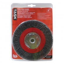 "6"" Coarse Steel Industrial Crimp Wheel Wide Face - 1/pack"