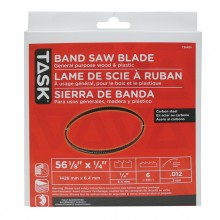 "56-1/8"" 1/4"" 6 TPI Band Saw Blade - 1/pack"