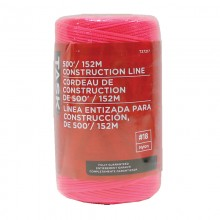 500' Pink Replacement Braided Nylon Construction Line - 1/pack