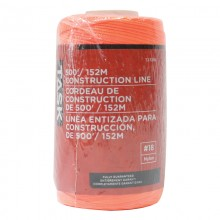 500' Orange Replacement Braided Nylon Construction Line - 1/pack