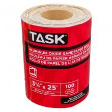 "3-2/3"" x 25' 100 Grit Fine Aluminum Oxide Rolls - 1/pack"