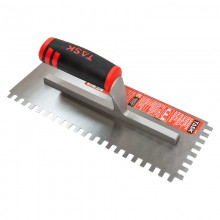 "11"" x 4 1/2"" (1/4"" x 3/8"" x 1/4"") Square Notch Adhesive Trowel with FlexFit Grip"