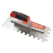 "11"" x 4 1/2"" (1/2"" x 1/2"" x 1/2"") Square Notch Adhesive Trowel with FlexFit Grip"