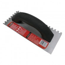 "9"" x 4"" (1/4"" x 1/4"" x 1/4"") Square Notch Adhesive Trowel"