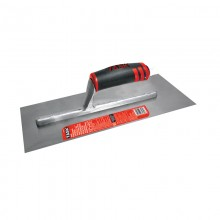 "12"" x 4"" Professional High Carbon Steel Finishing Trowel with FlexFit Grip"