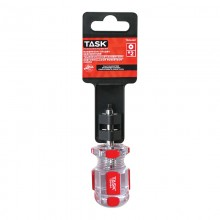 "#2 Robertson® 1-1/2"" Stubby Elite Acetate Hard Grip Screwdriver - 1/pack"