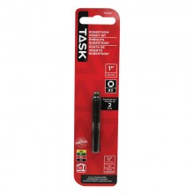 "#3 Robertson® 1"" Black Two-Piece Screwdriver Bit - 2/pack"