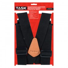 Partial Elastic Black Suspenders - 1/pack