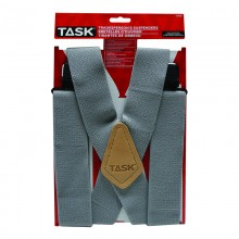 Full Elastic Grey Suspenders - 1/pack