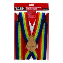 Full Elastic Rainbow Suspenders - 1/pack