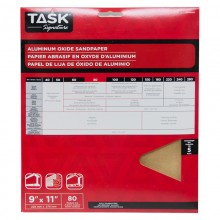 "9"" x 11"" 80 Grit Medium Task Signature Aluminum Oxide - 5/pack"