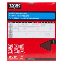"9"" x 11"" 120 Grit Fine Task Signature Heavy Duty - 5/pack"