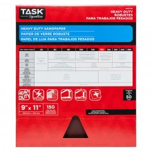 "9"" x 11"" 150 Grit Very Fine Task Signature Heavy Duty - Bulk"