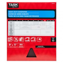 "9"" x 11"" 180 Grit Very Fine Task Signature Heavy Duty - Bulk"