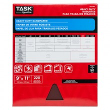 "9"" x 11"" 220 Grit Very Fine Task Signature Heavy Duty - Bulk"