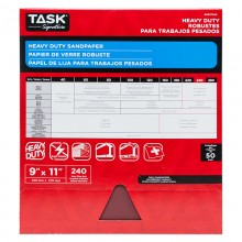 "9"" x 11"" 240 Grit Very Fine Task Signature Heavy Duty - Bulk"