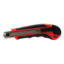 18 mm Auto Lock Knife with Rubber Grip and Auto-Reload - 24 per Display Box
