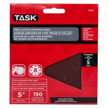 "5"" 8 Hole 150 Grit Peel & Stick Sanding Discs - 5/pack"