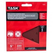 "5"" 8 Hole 240 Grit Peel & Stick Sanding Discs - 5/pack"