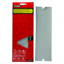 "3-5/16"" x 11"" 80 Grit Medium Drywall Sandpaper - 5/pack"