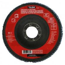"""5"""" 40 Grit 7/8"""" Arbor Alumina Zirconia Flap Discs - Bulk"""