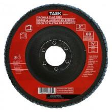 """5"""" 60 Grit 7/8"""" Arbor Alumina Zirconia Flap Discs - Bulk"""