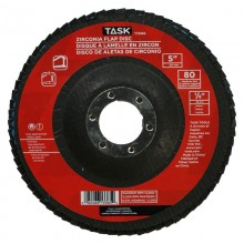 """5"""" 80 Grit 7/8"""" Arbor Alumina Zirconia Flap Discs - Bulk"""