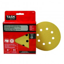"5"" 8 Hole 60 Grit Hook & Loop Sanding Discs - 25/pack"