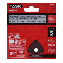 "3 1/2"" 6 hole 80 grit Starlock Sanding Sheets - 5/pack"