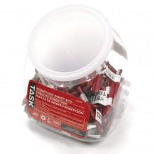 "#2 Robertson® 3"" Red Two-Piece Screwdriver Bit - 100/Jar"
