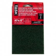 "4"" x 6"" Course Green Synthetic Steel Wool Pad - 2/pack"