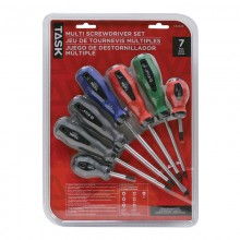 7pc Soft Grip Screwdriver Set - Clamshell