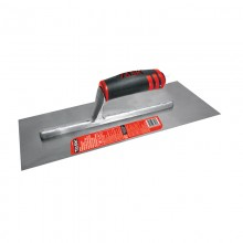 "18"" x 4"" Professional High Carbon Steel Finishing Trowel with FlexFit Grip"
